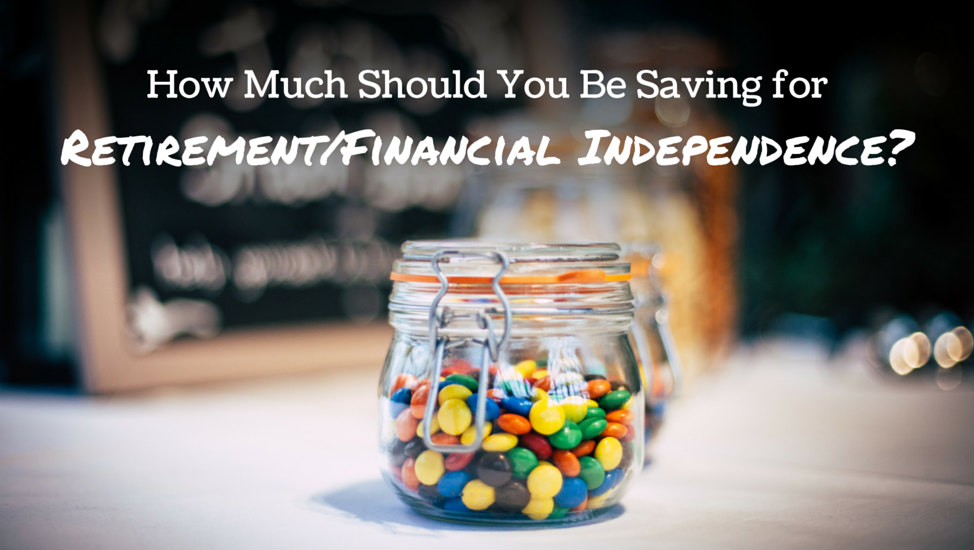 How Much Should You Be Saving for Retirement/Financial Independence?