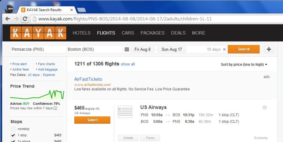 more expensive plane ticket